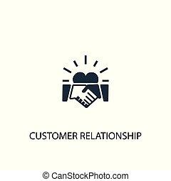 缶, 網, 使われた, ありなさい, シンボル, 顧客, 関係, 概念, icon., illustration., design., 要素, 単純である