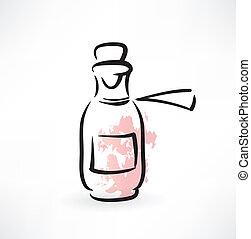 罐子, ......的, 醫學, grunge, 圖象