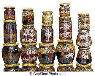 罐子, 蜂蜜, 堅果, 玻璃
