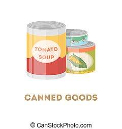 罐裝貨物, set.