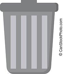 罐頭, 背景。, 白色, 垃圾, 矢量, 插圖
