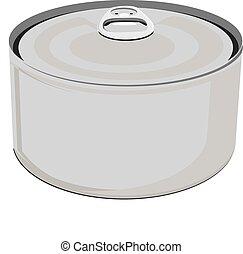 罐頭, 鋁, 空白