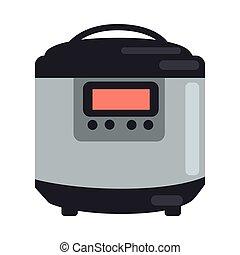 罐, 汽船, 烹調, 被隔离, 慢, white., 壇子
