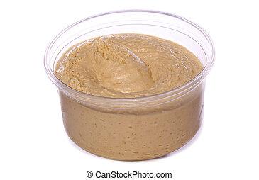 罐, ......的, hummus, cutout