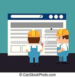 网站, 建设, 背景, 在下面