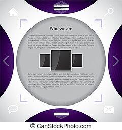 网站, 样板, 带, 摘要设计