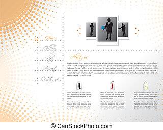 网站, 样板, 设计, 带, 专业人员, 卖主