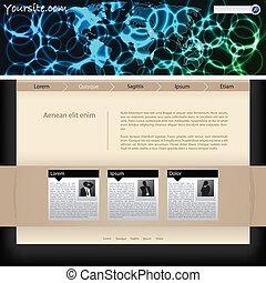 网站, 样板, 设计, 带, 血浆, 标题