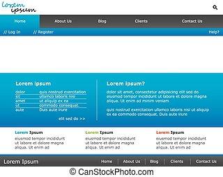 网站, 样板, 设计