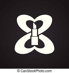 网站, 网, 图表, 妇女, 标志。, 简单, concept., 现代, 矢量, 天, 符号, 或者, mobile., 设计, 按钮, 背景, 因特网, trendy, 黑色, 设计, 图标