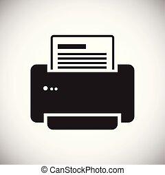 网站, 网, 图表, 打印机, 标志。, 办公室, 简单, concept., 现代, 矢量, 或者, 符号, mobile., 设计, 按钮, 背景, 因特网, trendy, 白色, 设计, 图标
