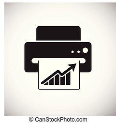 网站, 网, 打印机, 标志。, app., 简单, concept., 现代, 矢量, 或者, 符号, 运载工具, 图表设计, 按钮, 背景, 因特网, trendy, 白色, 设计, 图标
