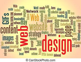 网络设计, 词汇, 云, 带, 产生