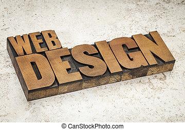 网設計, 在, 木頭, 類型