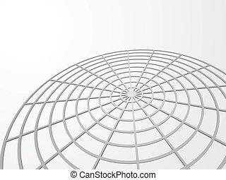 网, 摘要, space., 矢量, 背景, 模仿, 3d