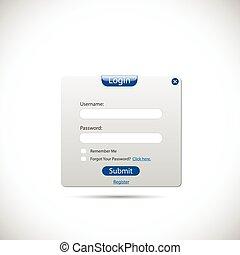 网, 登录, 面板
