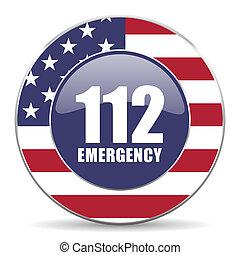 网, 緊急事件, 美國,  112, 數字, 輪, 背景, 美國人, 設計, 網際網路, 白色, 陰影, 圖象