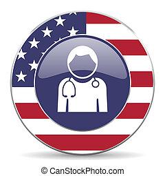 网, 美國, 醫生, 輪, 背景, 美國人, 設計, 網際網路, 白色, 陰影, 圖象