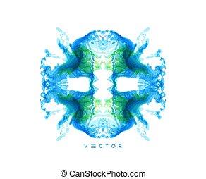 网, illustration., blotch., 墨水, 卡片, 設計, 矢量, 元素, 旗幟, 海報,...