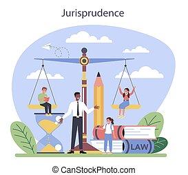 罰, 有罪, クラス, concept., 判断, 法律, education.