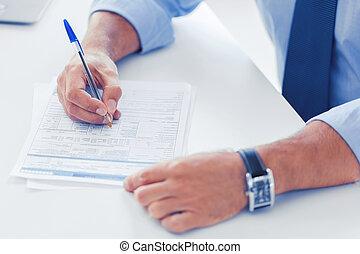 署名の契約, 人