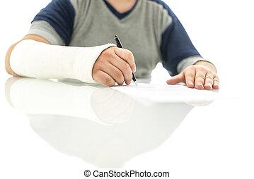 署名, 保険, 要求