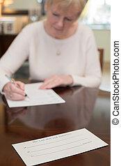 署名, 女, 最後の意志, 新約聖書, 家, シニア