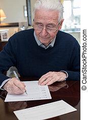 署名, 最後の意志, 新約聖書, 家, 年長 人