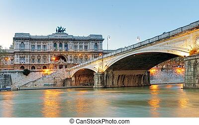 羅馬, italy., 宮殿, ......的, 正義, (palazzo, 二, giustizia), -, 法院,...