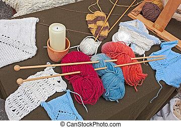羊毛, 編むこと