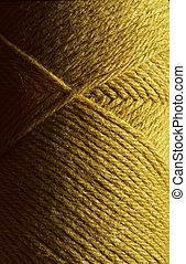 羊毛, 編むこと, ヤーン, 金, かせ