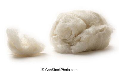 羊毛, 背景, 綿, 白