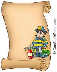羊皮紙, 消防隊員