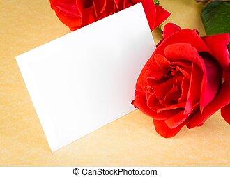羊皮纸, 正文, 纸卡片, 背景, 礼物, 空白, 红升高