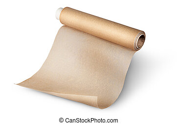 羊皮纸, 纸, 烘烤, 未卷绕, 卷
