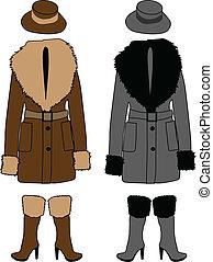 羊皮, コート