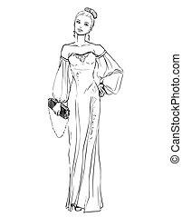 美しい女性, イブニングドレス
