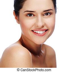美しい女性, 健康, 若い, 皮膚, 肖像画