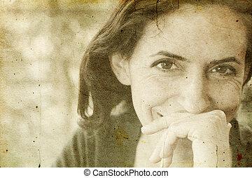 美しい女性, 古い, 35, 年, 肖像画