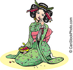 美しい女性, 日本語