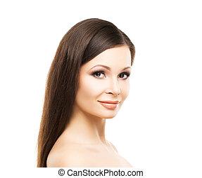 美しい女性, 滑らかな皮膚