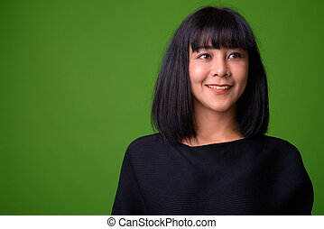 美しい女性, 若い, アジア人