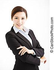 美しい女性, 若い, ビジネス, アジア人