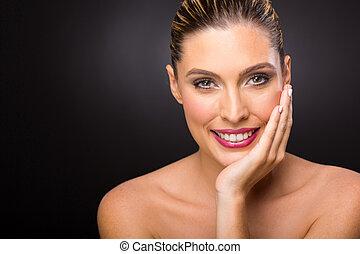 美しい女性, 若い, 皮膚
