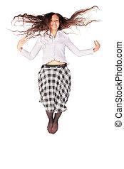 美しい女性, 若い, 跳躍