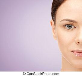 美しい女性, 若い, 顔