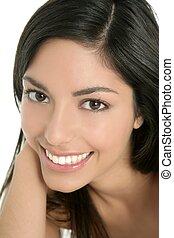 美しい女性, indian, ブルネット, クローズアップ, 肖像画