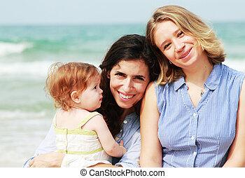 美しい少女たち, 浜, 2, 赤ん坊