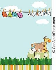 美しい赤ん坊, シャワー, カード