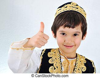 美しい, わずかしか, 子供, muslim